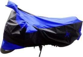 AK Kart Two Wheeler Cover for Hero(Glamour FI, Blue, Black)