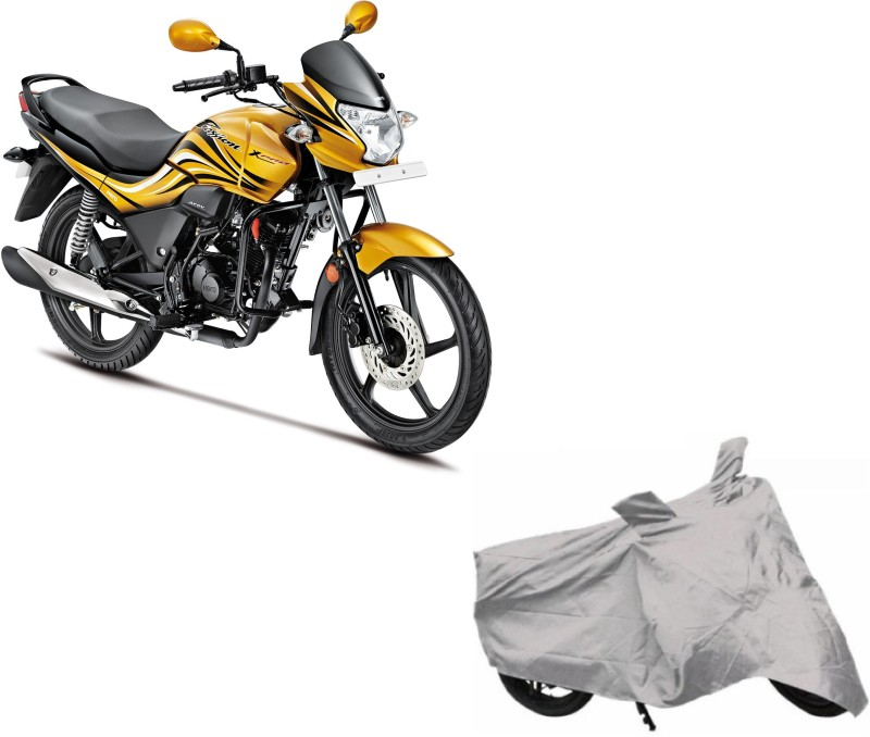 ACCESSOREEZ Two Wheeler Cover for Hero(Passion, Silver)