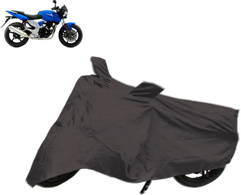 AutoKit Two Wheeler Cover for Bajaj(Pulsar 220 DTS-i, Black)