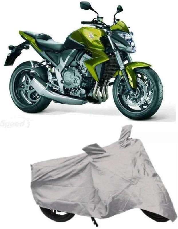 ACCESSOREEZ Two Wheeler Cover for Honda(CB, Silver)
