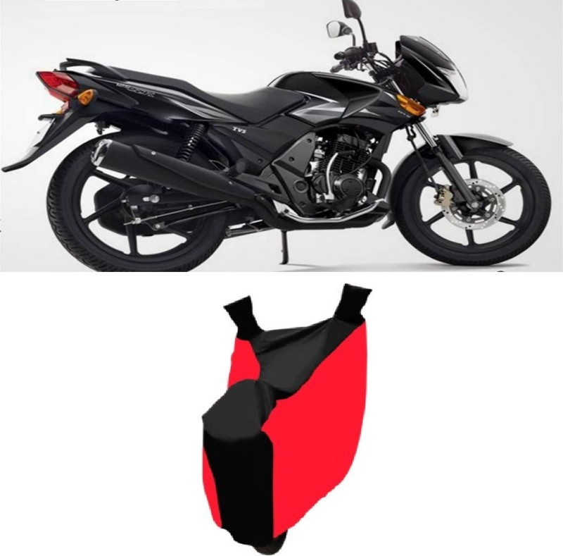 AutoKit Two Wheeler Cover for TVS(Flame, Red, Black)