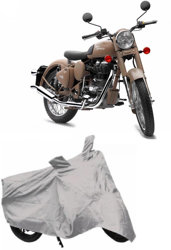 ACCESSOREEZ Two Wheeler Cover for Royal Enfield(Classic 500, Silver)