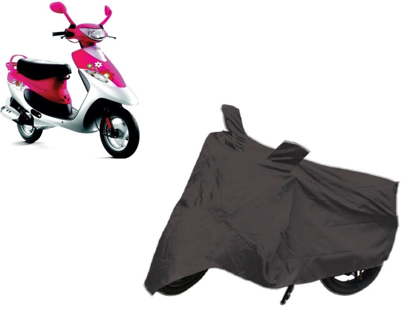 ACCESSOREEZ Two Wheeler Cover for TVS(Scooty Pep+, Grey)
