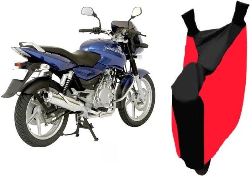 AutoKit Two Wheeler Cover for Bajaj(Pulsar 150, Red, Black)