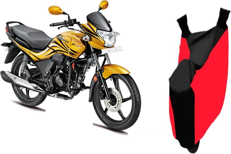 Bristle Two Wheeler Cover for Hero(Passion, Red, Black)
