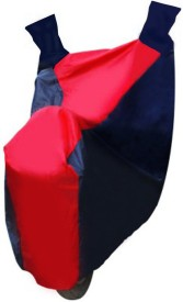 Auto Pearl 100% Water Proof Red and Blue PVC With Mirror Pockets, Buckle Belt, Carry Bag For - Piaggio Vespa SXL Two Wheeler Cover