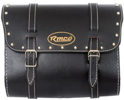 KASCN UNIVERSAL LEATHER ONE SIDED BAG FOR ALL MOTORCYCLES T1 One-side Black Leatherette Motorbike Saddlebag