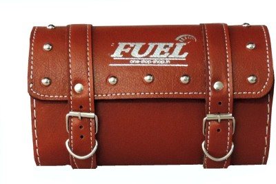 OSS-FUEL Saddle Bag For Harley Davidson One-side Brown Leatherette Motorbike Saddlebag