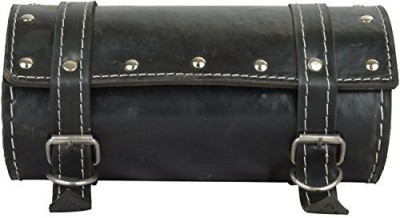 b-unit products One-side Black Leatherette Motorbike Saddlebag