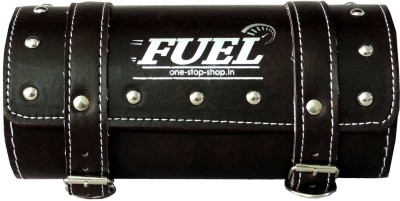 OSS-FUEL Saddle Bag Premium For Bikes One-side Brown Leatherette Motorbike Saddlebag