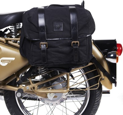 Royal Enfield Double-side Black Fabric Motorbike Saddlebag(30 L)