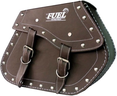 OSS-FUEL Saddle Bag For Avenger , Aquila St-9 One-side Brown Leatherette Motorbike Saddlebag