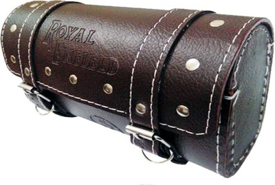 Capeshoppers Small One-side Brown Leatherette Motorbike Saddlebag(2.5 L)