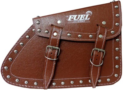 OSS-FUEL Saddle Bag For Avenger , Aquila St-13 One-side Brown Leatherette Motorbike Saddlebag