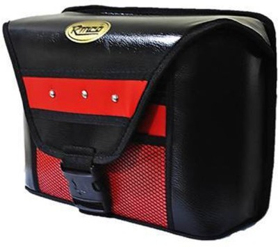 KASCN UNIVERSAL BAZOOKA TYPE ONE SIDED BAG FOR ALL MOTORCYCLES One-side Red Fabric Motorbike Saddlebag