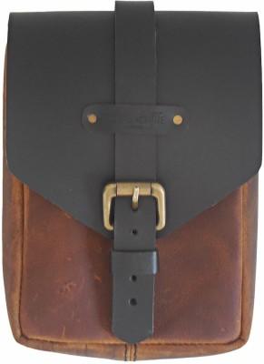 Trip Machine Company One-side Brown, Black Genuine Leather Motorbike Saddlebag(1.5 L)