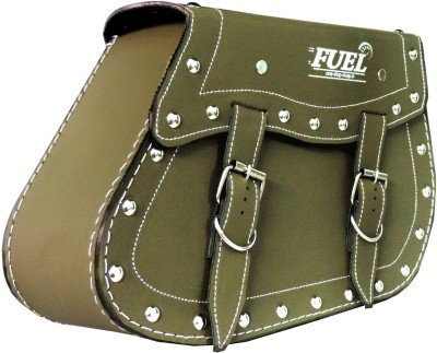 OSS-FUEL Saddle Bag Premium Large For Bikes St-10 One-side Green Leatherette Motorbike Saddlebag
