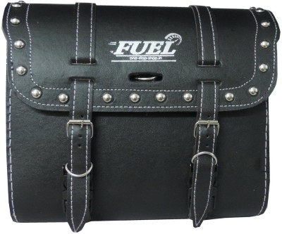 OSS-FUEL Saddle Bag Premium Large For Cruiser Bikes St-15 One-side Black Leatherette Motorbike Saddlebag