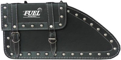 OSS-FUEL Saddle Bag Premium Large For H.D St-7 One-side Black Leatherette Motorbike Saddlebag