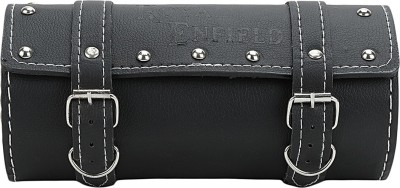 Forever19 One-side Black Genuine Leather Motorbike Saddlebag(2 L)