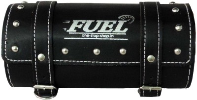 OSS-FUEL Saddle Bag For Cruiser Bikes One-side Black Leatherette Motorbike Saddlebag