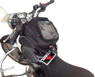 Rhydon LTB001 Magnetic Motorcycle Tank One-side Black Fabric Motorbike Saddlebag
