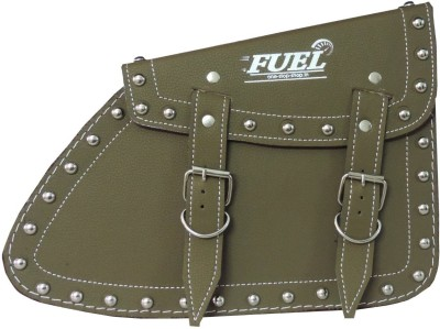 OSS-FUEL Saddle Bag For Bikes St-13 One-side Green Leatherette Motorbike Saddlebag