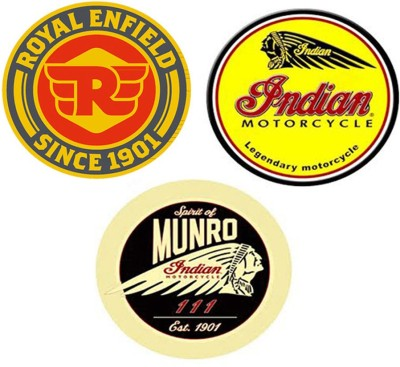 BikeNwear Motorcycle Design Sticker(Pack of 3)