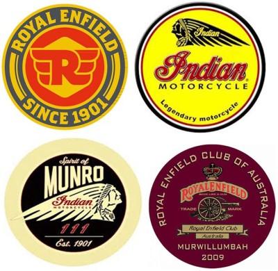 BikeNwear Motorcycle Design Sticker(Pack of 4)