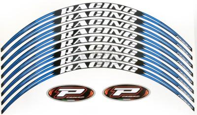 Progrip PG-5026 BLUE Motorcycle Rim Sticker(Pack of 8)