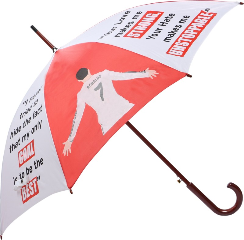 Invezo Impression Cristiano Ronaldo Umbrella(Red, White)