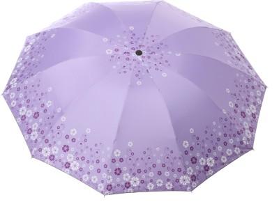 Modish Vogue UM_BDR FLWR_PURPLE Umbrella