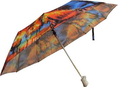 Monsoon 3 Fold Auto Open Umbrella