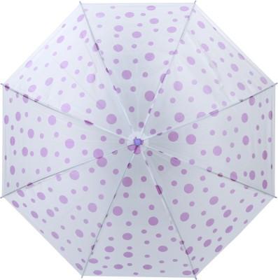 Luggage Kart Purple Polka Dots Umbrella