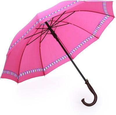 Luggage Kart Pink Cool Single Fold Umbrella