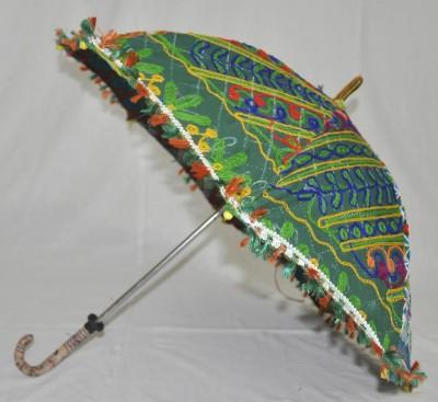 Lal Haveli Rajasthani Wedding Decoration Umbrella(Green)