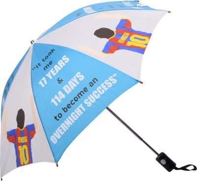 Invezo Impression Invezo Impression Blue Messi 3 fold Automatic Umbrella Umbrella