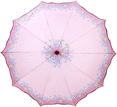 Luggage Kart Cool Pink Umbrella