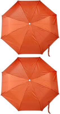 ZARSA Set of 2 Orange 8 Stick Umbrella