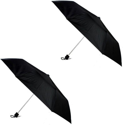 Soy Panther 3 Fold Heavy Quality Set of 2 (Black) Umbrella(Black)