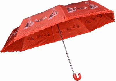 Aaa Store AAA STORE NEW 5.0 RD PRINTED WTH FNCY FRILL Umbrella