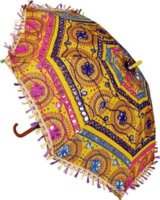 Lal Haveli Ladies Single Fold Cotton Designer Umbrella
