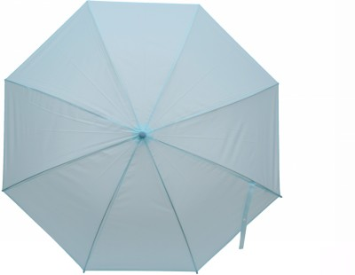 Elegance Light Sky Blue 1 Fold Plain Umbrella