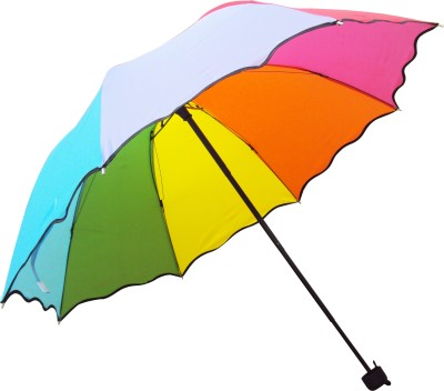 Crystal 3 fold Manual Open Umbrella