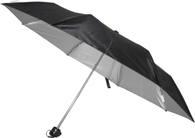 Fendo Hand Open 3 Fold Nylon Fabric Twister_4 Umbrella(Black)