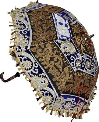 Lal Haveli Hand Embroidery Design Single Fold Umbrella