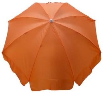 Fendo Polyster fabric Single fold pole Garden Umbrella(Orange)