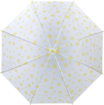 Luggage Kart Yellow Polka Dots Umbrella