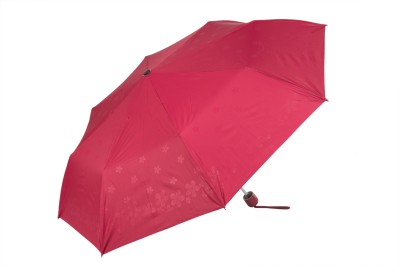 Elephant Brand 3 Fold Plain Color with Assorted Emboss (Self Deisgn) Prints Umbrella