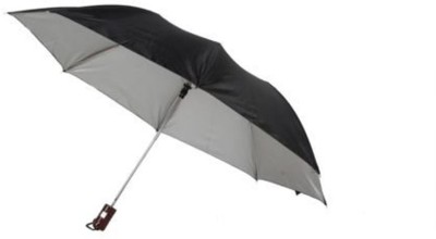 Holiday 2 Fold Auto Open Black Silver Umbrella